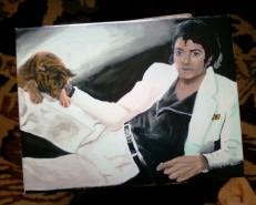 Picturi cu potrete/nuduri Michael jackson thriller cover
