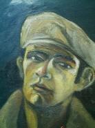 Picturi cu potrete/nuduri Autoportret cu basc alb detaliu
