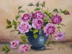 Picturi cu flori Rozsa