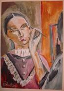 Picturi cu potrete/nuduri Machiaj