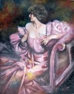 Picturi cu potrete/nuduri Femeia in mov