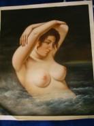 Picturi cu potrete/nuduri Femeie la scaldat
