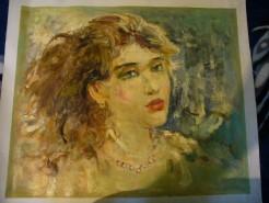 Picturi cu potrete/nuduri Privire de femeie
