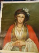 Picturi cu potrete/nuduri Tiganca frumoasa