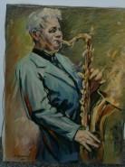Picturi cu potrete/nuduri Saxofonist