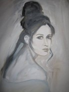 Picturi cu potrete/nuduri Privind inapoi