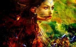 Picturi cu potrete/nuduri Wonderland fairy