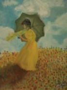 Picturi cu potrete/nuduri Femeie cu umbrela