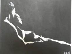 Picturi cu potrete/nuduri Singuratate in doi