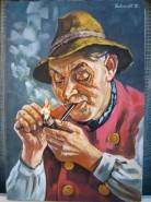 Picturi cu potrete/nuduri Placerea de a fuma
