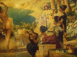 Picturi cu potrete/nuduri Dans printre sabii