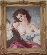 Picturi cu potrete/nuduri Fata cu vioara