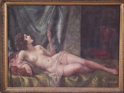 Picturi cu potrete/nuduri Frumusete pe pat