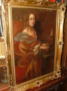 Picturi cu potrete/nuduri Portret doamna la pian peste 100 ani