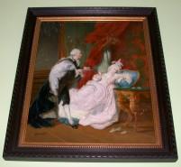 Picturi cu potrete/nuduri Scena de curte cu regele ludovig 14