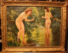 Picturi cu potrete/nuduri Tablou nud semnata illencz lipot anul 1942