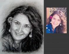 Picturi cu potrete/nuduri Portret in carbune dupa fotografie