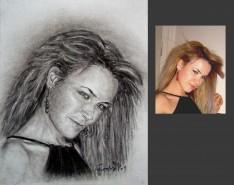 Picturi cu potrete/nuduri Portret in carbune la comanda