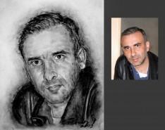 Picturi cu potrete/nuduri Portrete in carbune dupa fotografie