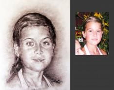 Picturi cu potrete/nuduri Portrete in carbune la comanda
