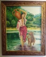 Picturi cu potrete/nuduri Fata cu ulciorul