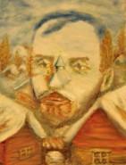Picturi cu potrete/nuduri Iarna pe ulita de George Cosbuc