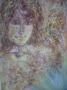 Picturi cu potrete/nuduri Fata si toamna
