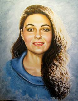 Picturi cu potrete/nuduri Actrita Svetlana Toma