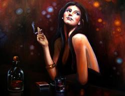 Picturi cu potrete/nuduri cognac and cigarett