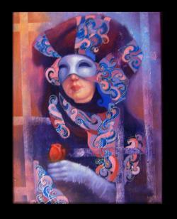 Picturi cu potrete/nuduri masca venetiana 2