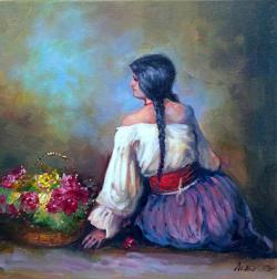 Picturi cu potrete/nuduri tiganca florareasa 2