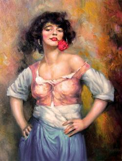 Picturi cu potrete/nuduri gipsy women