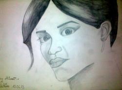 Picturi cu potrete/nuduri Portret Rihanna