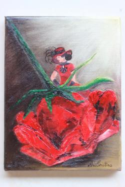 Picturi cu potrete/nuduri Red passion