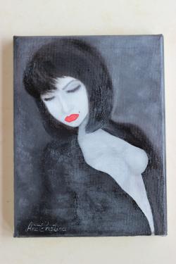 Picturi cu potrete/nuduri Seductie naiva
