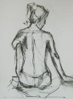 Picturi cu potrete/nuduri Asteptare nud