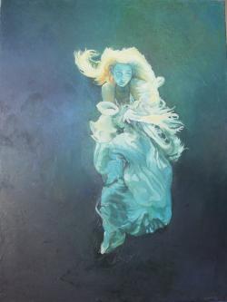Picturi cu potrete/nuduri femme dans l'eau 2