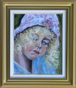 Picturi cu potrete/nuduri COPIL BLOND