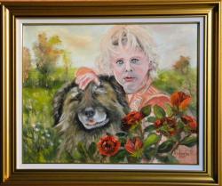 Picturi cu potrete/nuduri DOI PRIETENI