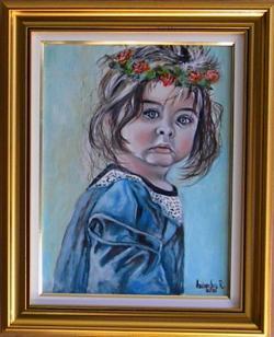 Picturi cu potrete/nuduri FETITA CU CORONITA