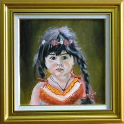 Picturi cu potrete/nuduri PORTRET DE FETITA CU CODITE
