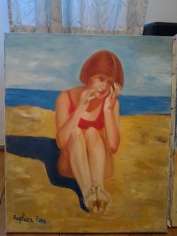 Picturi cu potrete/nuduri portret la mare