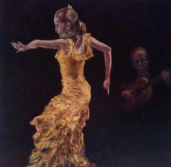 Picturi cu potrete/nuduri flamenco'