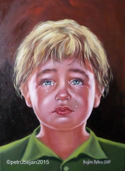 Picturi cu potrete/nuduri Copil trist