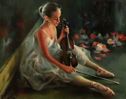 Picturi cu potrete/nuduri BALERINA 06