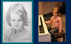 Picturi cu potrete/nuduri 1 portret creion