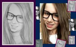 Picturi cu potrete/nuduri Portret fetita cu ochelari