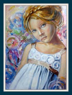Picturi cu potrete/nuduri Fetita blonda