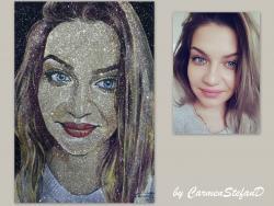 Picturi cu potrete/nuduri Glitter portreit I