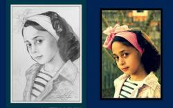Picturi cu potrete/nuduri portret creion